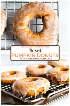 Pumpkin Donuts are perfect for fall breakfasts, brunches, or dessert! Everyone loves this easy vegan, pumpkin recipe! Vegan Pumpkin, Baked Pumpkin, Pumpkin Recipes, Pumpkin Donuts Recipe Baked, Pumkin Donuts, Cinnamon Donuts, Pumpkin Spice, Fall Breakfast, Pumpkin Breakfast