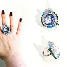 Ma che pretendi? La Luna????  Eccola qua' !! Incastonata in un anello soutache con base a spirale regolabile  Subito disponibile per info contattami! . . . #archidee #becreative #bepositive #soutache #soutachejewelry #soutachemania #dragon #handmade #handmadejewelry #supporthandmade #madeinitaly #rings #anelli #fashionjewelry #instajewelry #jewelgram #fashiongram #moon #jewelryblogger #ootd #outfit #instastyle #fashiondiaries #bohochic #jewelryporn #luna #artisanjewelry #lookoftheday…