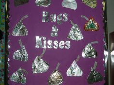 Hugs & Kisses Seasonal Bulletin Boards, Classroom Bulletin Boards, Hugs, Kisses, Cards, Big Hugs, Blowing Kisses, Kiss, Maps