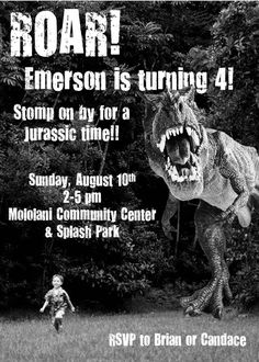 Dinosaur Birthday Invitation by DesignsofHeather on Etsy