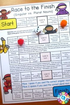 Looking for a fun way to practice nouns?  This Nouns Games packet contains 13 fun and engaging printable board games to help students to practice common nouns, proper nouns, singular nouns, plural nouns, collective nouns, possessive nouns, concrete nouns, abstract nouns, and more!: