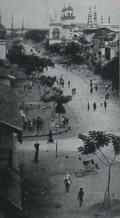 ``ရန္ကုန္(၁၉၀၄)`` .....Street Scene- Rangoon; Burma(1904) (File Photo)  Credit ~ Lin San Tyna
