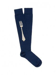 Long live the long sock - Etro socks LONG SOCKS SOLID COLOR WITH #JACQUARD #FORK MOTIF
