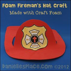 Crafts and Activities about Jesus Rescues Me, Heals Me and Protects Me Bible School Crafts, Sunday School Crafts, Fathers Day Crafts, Bible Crafts, Preschool Teacher Tips, Preschool Activities, Fireman Crafts, Fireman Hat, Christian Crafts