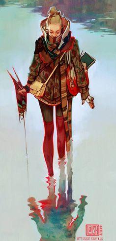 Ilustrativo Menah. Recente trabalho de Loish.  http://loish.deviantart.com/art/menah-412823029 Menah. Recent work of Loish.