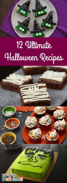 12 Top Halloween Recipes for the ultimate Halloween party. From spooky cakes to wicked brownies, you're sure to find an impressive and easy dessert recipe.