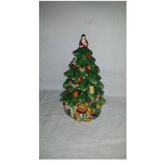 Vintage Spode Christmas Tree Trinket Box,  Spode, Ceramic Christmas Tree, Santa, Holiday Decor, Christmas Decor, Christmas Gift by JunkYardBlonde on Etsy