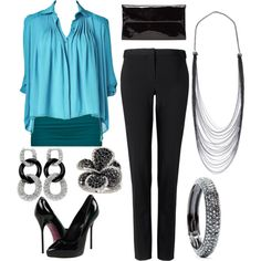 Black and Blue Work Wear