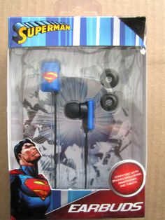 Superman Earbuds Blue Packaged Brand New! #Sakar