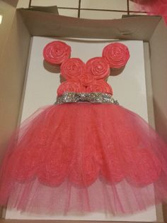 Princess Dress Birthday Cupcake Cake!