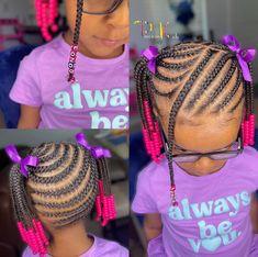 Kids Cornrow Hairstyles, Black Kids Braids Hairstyles, Toddler Braided Hairstyles, Cute Little Girl Hairstyles, Braids Hairstyles Pictures, Baby Girl Hairstyles, Braids For Black Hair, School Hairstyles, Little Girl Braid Styles