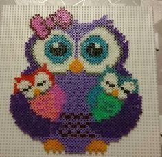 Owl perler beads
