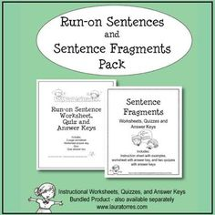 sentence fragments worksheets quizzes and answer keys pinterest. Black Bedroom Furniture Sets. Home Design Ideas