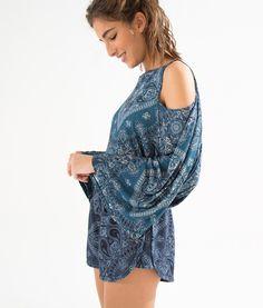 blusa vazado bandana veraneio