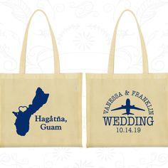 Guam Tote Bags, Guam Wedding, Wedding Favor Cotton Tote, Destination Wedding Bags, Wedding Tote Bags, Hagatna Tote Bags (179)