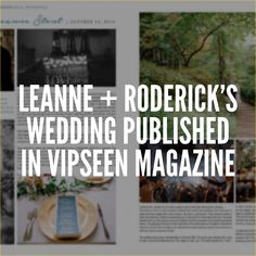 Congratulations to Leanne  Roderick for having their beautiful wedding featured in the latest issue of Vipseen Magazine @vipseenmagazine See more on the blog today!  Featured Wedding Pros:  Ceremony/ Reception Venue: Lodge On Lake Lure // Rehearsal Dinner Venue: Rhubarb // DJ: Sound Extreme Entertainment // Floral Design: Urban Farm Girl with Elaine Young Black Mountain NC // Events by Kiersa for Event Planning with Kiersa Holy // Cocktail Party: Sovereign Remedies // Bridal: Wedding…
