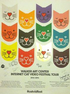 Official poster for the 2014 Walker Art Center Internet Cat Video Festival Tour