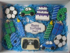 Cookies for a 16 year old boy's birthday