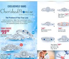 ► ► A NEW twist on Promise Rings... With Sapphires! Take a peek...
