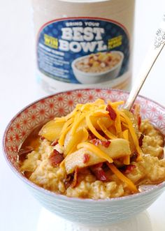 Cheddar oatmeal with maple roasted apples and bacon is a revelation in flavor. Extra sharp cheddar cheese melted intoQuaker® Old-Fashioned Oats provides a perfectly savory and heartybowl of oatmeal. Combined with the maple sweetness of … … Continue reading →