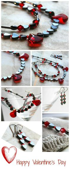 Gothic Necklace. Hem #beaded #jewelry