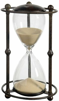 Amazon.com: 1 Hr. Hourglass Sand Timer In Stand Tan 12.5 inch: Kitchen & Dining
