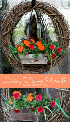 Living Flower Wreath  |  OHMY-CREATIVE.COM @Oh My! Creative