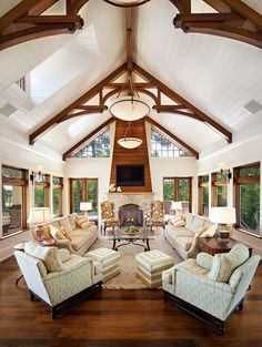Family room/living room of private residence on Kiawah Island, SC from R.M. Buck Builders, Inc.