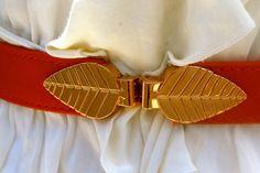 Gold Leaf Belt by stylebandit on Etsy, $15.00