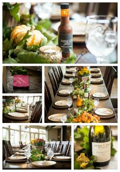 Fall wedding table top details from a wedding at Stone Tower Winery, Louden County Virginia. Shot by Kimberly Dean Photos.
