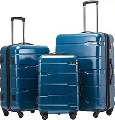 Enjoy exclusive for Coolife Luggage Expandable 3 Piece Sets PC+ABS Spinner Suitcase Built-In TSA lock 20 inch 24 inch 28 inch online - Prettyproclothing Luggage Brands, Luggage Store, Luggage Sets, Travel Luggage, Suitcase Set, Spinner Suitcase, Packing Clothes, Trolley Bags, Thing 1