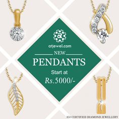 Design Of The Day..... ATJewel Launched Pendants Starts at Rs 5000/-Onwards.New Looks New Designs ,Shop Now #ATJewel #Diamonds #Pendants #Gold #EasyOnBudget http://www.atjewel.com/jewellery