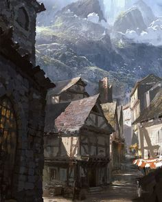 #SpellForce 3 #ConceptArt - Cities in Nortander  Besides ruins and other mysterious places, there are, of course, also densely populated areas with large cities. Those cities are the major trading points as well as the centres of the cultural live in the kingdom. But they also provide numerous dark alleys for shady individuals to do their businesses.  The manifold landscape of Nortander is also reflected in the layout and architecture of the cities. Many of the bigger cities located in the…