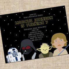 Printable Boy Star Wars Themed Birthday by InkaDinkDesigns on Etsy. $6.00, via Etsy.