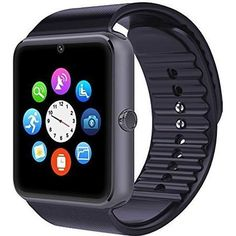 Bluetooth Smart Watch with SIM Card Slot and NFC Smart Health Watch for Android Samsung HTC and IOS Apple iphone Smartphone Bracelet Smartwatch Wrist Watch Phone, Watch For Iphone, Camera Watch, Iphone Android, Android Camera, Android Smartphone, Iphone 4s, Android Clock, Electronics Gadgets
