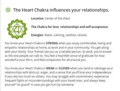 °Heart Chakra - influences your relationships.