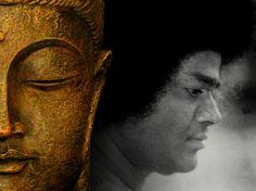 Sathya Sai Baba and Buddha  www.lordsai.com