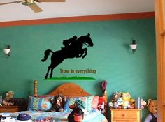 HorseQuotewall decalsticker28 X 25 inch by aluckyhorseshoe on Etsy, $28.00