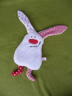 Wärmkissen - Wärmekissen kleiner Plüsch-Hase - ein Designerstück von SchuetzEngel bei DaWanda