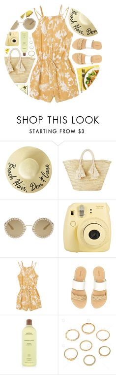 """Melbourne"" by monmondefou ❤ liked on Polyvore featuring Giselle, Dolce&Gabbana, Fuji, RVCA, Moleskine, Soludos, Aveda and yellow"
