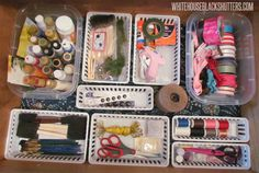 Containing Craft Clutter in a way that makes sense for use and cleanup.