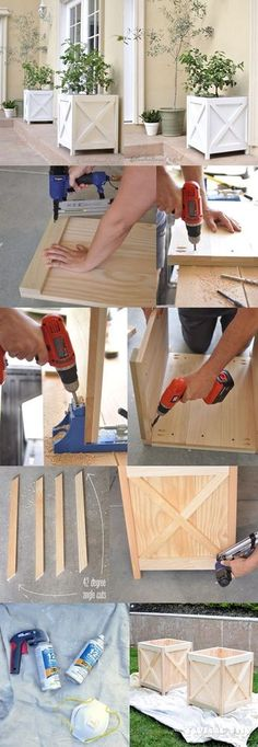The best DIY projects & DIY ideas and tutorials: sewing, paper craft, DIY... DIY Furniture Plans & Tutorials : Drewniane donice -Read More -
