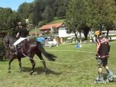 Rollerblading meets Horse Jumping - INCREDIBLE! - YouTube