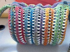 Accordian style can tab purse, open by cindycreativecrochet
