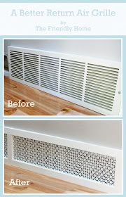 Replace return air grille with Union Jack metal from Lowe's