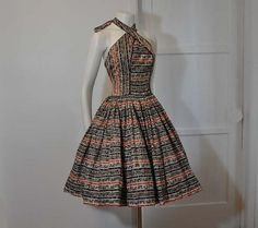 Alfred Shaheen halter dress