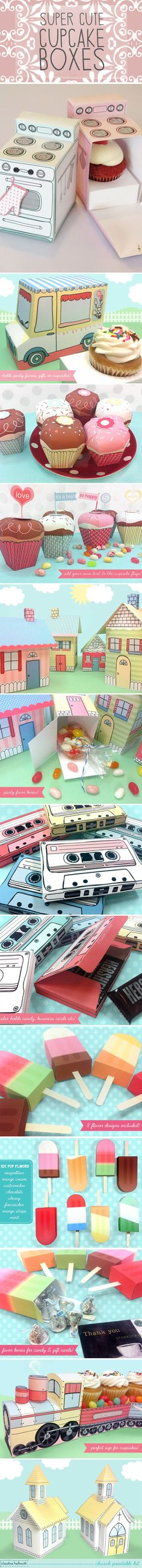 Cute cupcake boxes… why can I not come up with these ideas?