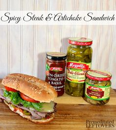 Spicy Steak and Artichoke Sandwich - Get the recipe and details for entering the @mezzetta #makethatsandwich contest. #sp #mezzetta