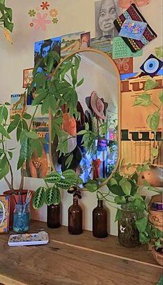 Indie Room Decor, Cute Room Decor, Boho Decor, Room Design Bedroom, Room Ideas Bedroom, Bedroom Inspo, Cute Room Ideas, Pretty Room, Room Goals