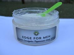Our men's organic eucalyptus peppermint sugar body scrub exfoliates, softens, and refreshes. Eucalyptus has anti-inflammatory,  anti-bacterial, and anti-viral properties in addition to smelling great.